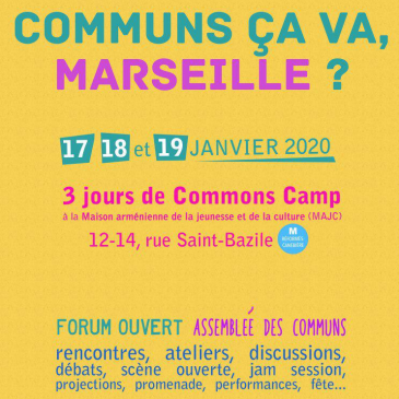 Comunes ça va, Marseille ?  Commons Camp 2020