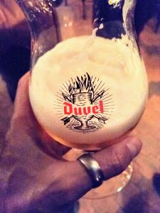 A Belgian beer
