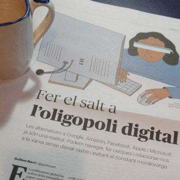 Un article a La Directa presenta les alternatives a l'oligopoli digital