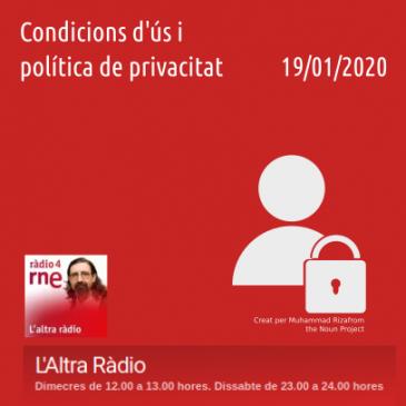 Condicions d'Ús i Política de Privacitat a l'Altra Ràdio